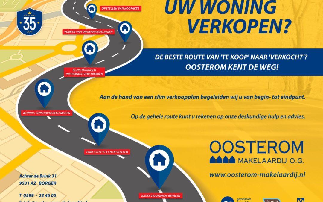 De beste route van 'te koop' naar 'verkocht'? Oosterom kent de weg!